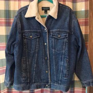 Ralph Lauren women's vintage jean fleece jacket